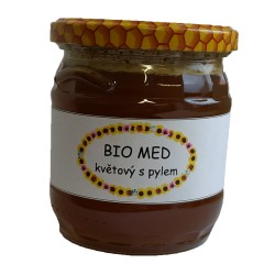 BIO med květový s pylem 500 g