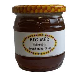 BIO med květový s trubčím mlíčkem 500 g